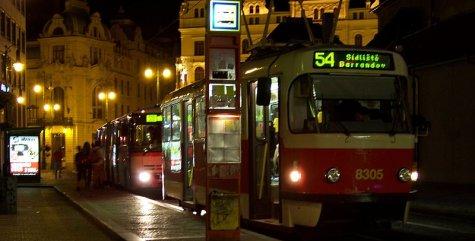 ночной транспорт в Праге